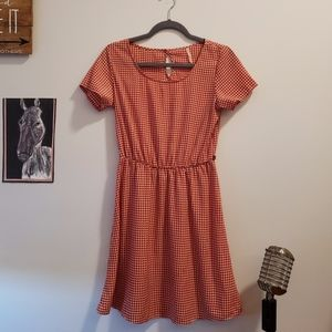 Retro Red/White Houndstooth Dress- SIZE SMALL